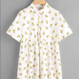 Dresses & Skirts - Banana Print Shirt Dress